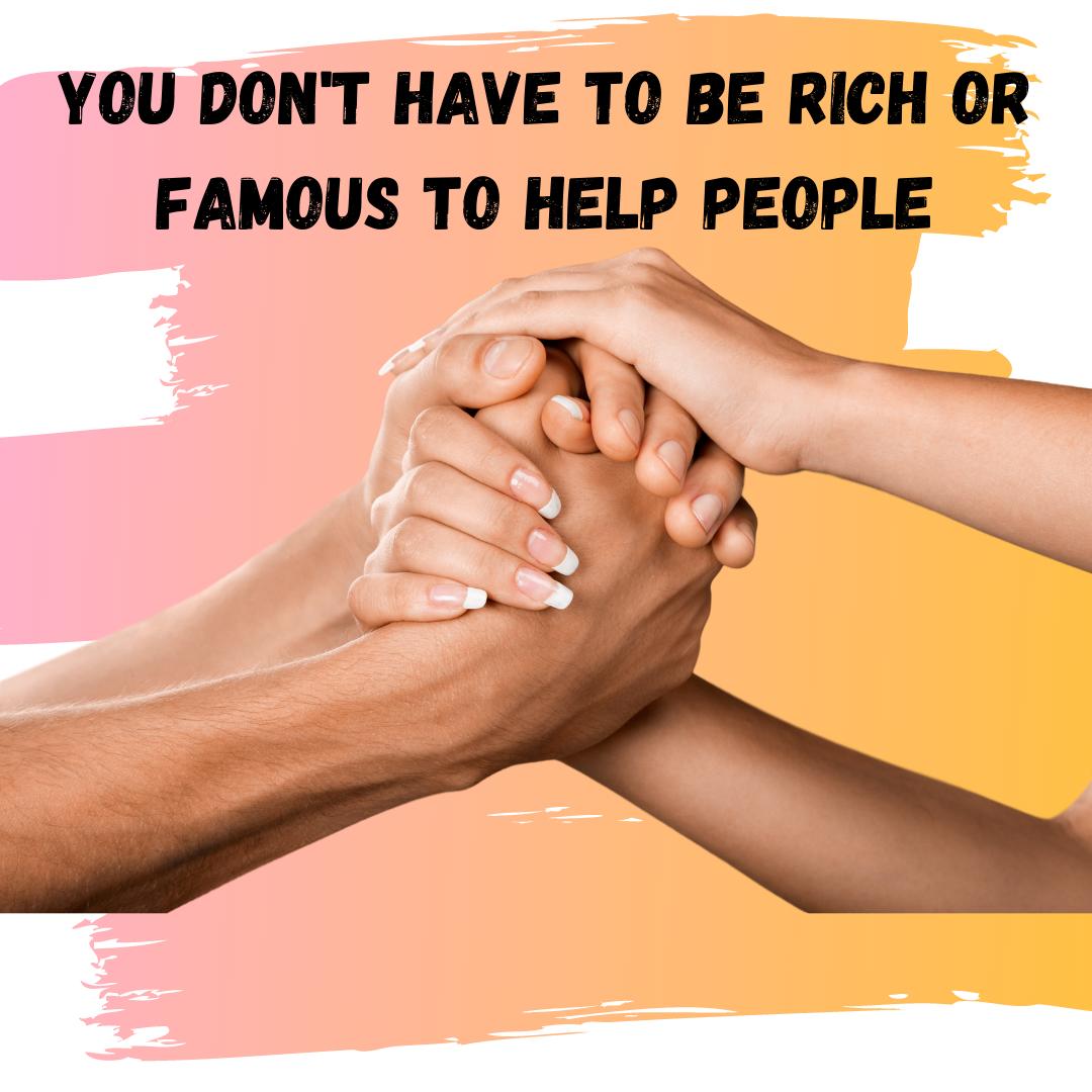 help people by volunteering